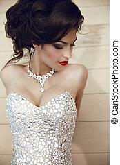 Beauty fashion brunette model portrait