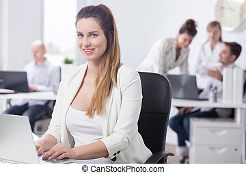 Beauty female office worker