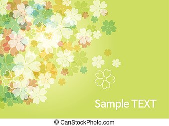 beauty flower background - green