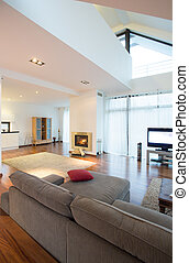 Interior of beauty furnished house ready to move in