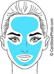 Beauty girl face. Art vector work illustration
