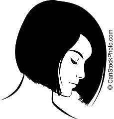 beauty girl face. Art vector work illustration