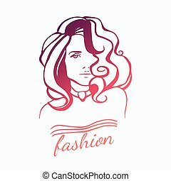 Beauty Girl Face Logo Beautiful Woman Sample