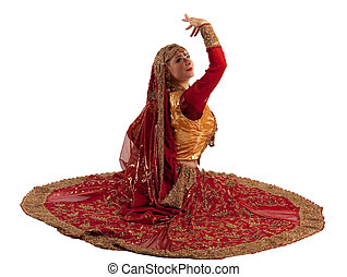 Beauty girl posing in indian costume