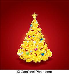 Beauty Golden Christmas Tree