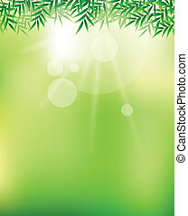 beauty green sky background