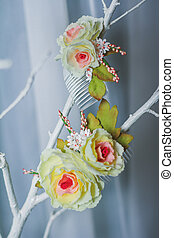 Beauty hair flower accessory