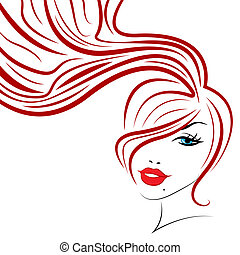Beauty Hair Indicates Good Looking And Adult - Hair Woman ...