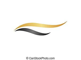 Beauty hair logo vector