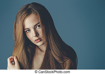 beauty hair portrait
