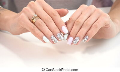 Beauty hands with manicure - Beauty hands with amazing...