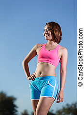 beauty health sport woman