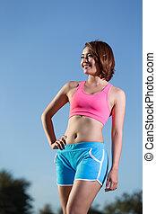 beauty health sport woman