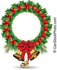 beauty Holly Christmas frame - vector illustration of beauty...