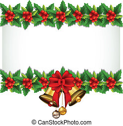 beauty Holly Christmas frame - vector illustration of beauty...