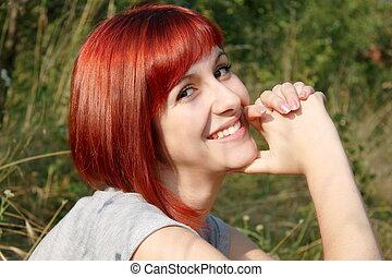 Beauty in nature - Caucasian girl