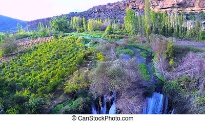 beauty in nature - aerial shotting village