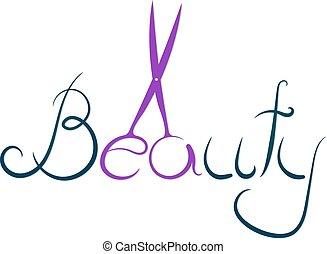 Beauty inscription for beauty salon and hairdresser