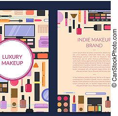 beauty, kaart, flyer, merk, vector, mal, informatieboekje , presentatie