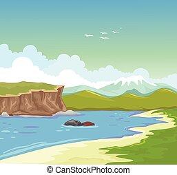 beauty lake background