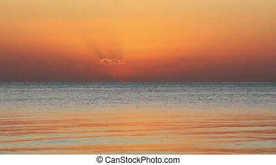 beauty landscape with sunrise over sea - timelapse