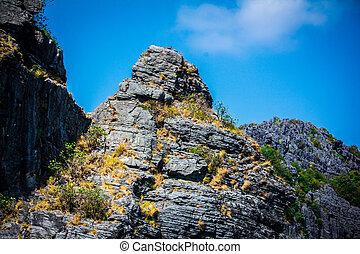 Beauty limestone rock in the ocean