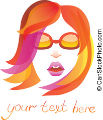 beauty logo - pretty woman -  vector
