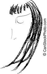 Beauty Logo - Black and white art drawing