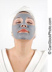 beauty mask #24 - on white background