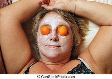 beauty mask woman