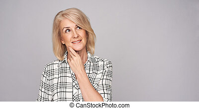 beauty middle age woman - beauty portrait of beautiful ...