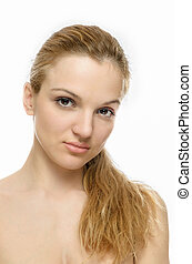 Beauty Model Portrait, long hair