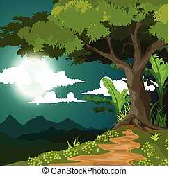 beauty night view background - vector illustration of beauty...