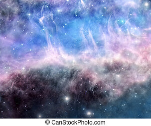 Beauty of space - Space background filled with bright stars...