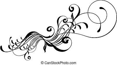 beauty ornament - vector ornament, individual objects very...