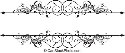 beauty ornamental banner - isolated vector design elements ...