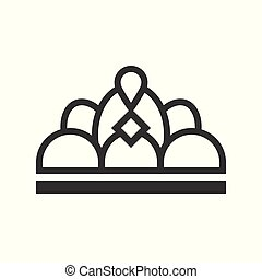 beauty pageant crown, jewelry icon, glyph style.