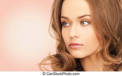 beautiful young woman with bare shoulders - beauty, people ...
