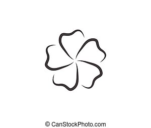 Beauty plumeria icon flowers design illustration Template