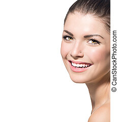 Beauty Portrait. Beautiful Spa Teenage Girl Face