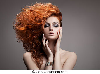 beauty, portrait., hairstyle