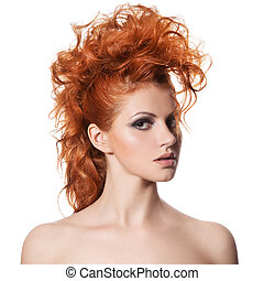 Beauty Portrait. Hairstyle