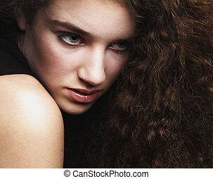 Beauty portrait of a female fashion model