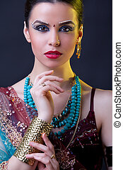 Beauty portrait of a young indian