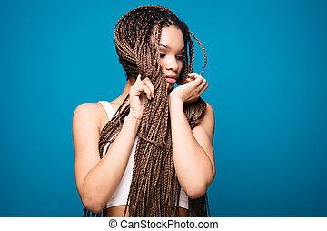 Beauty portrait of african girl.