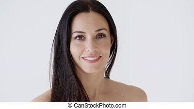 Beauty portrait of an attractive young brunette
