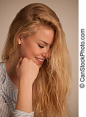 Beauty portrait of attractive young woman