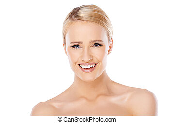 Beauty portrait of blond woman