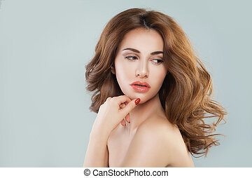 Beauty Portrait of Cute Woman Model