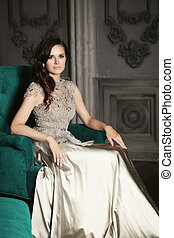 Beauty Portrait of Fashion Model Woman